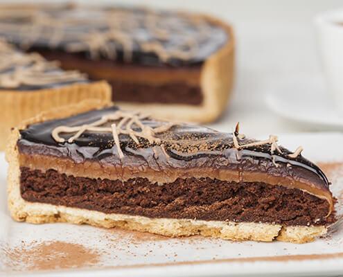 Millionaires Chocolate Praline Brownie Tart