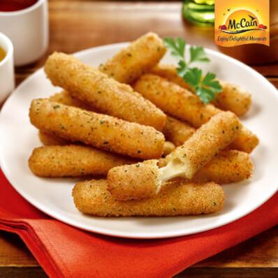 Breaded Mozzarella Fries - McCains - Nicol Hughes Foodservice