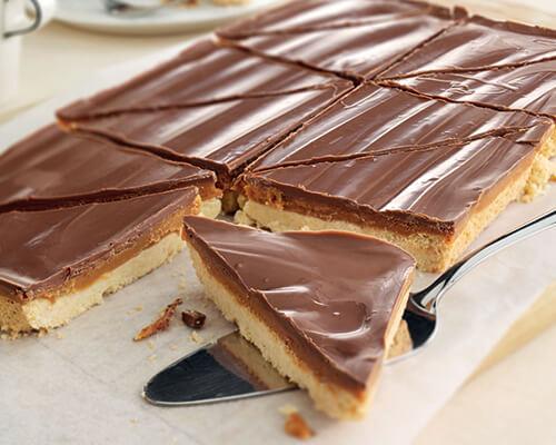 Millionaires' Caramel Shortcake Triangle