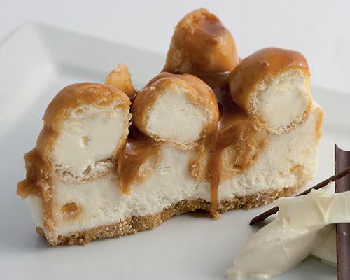 Toffee Profiterole Cheesecake