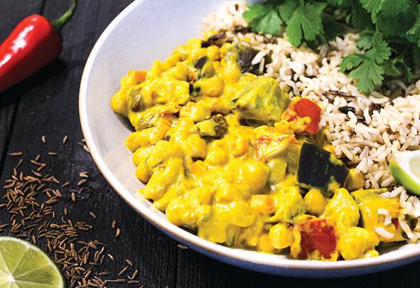 Vegan Curry with Turmeric & Coconut